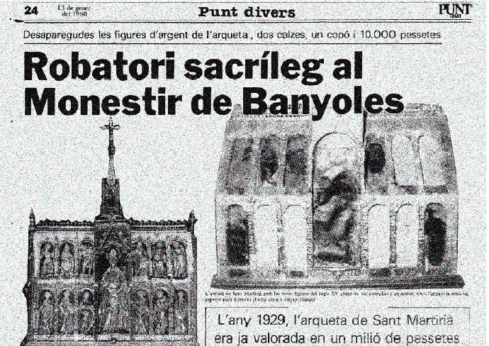 NIT DELS MUSEUS- Robatori sacríleg al Monestir de Banyoles